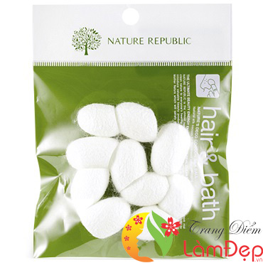 Kén Tằm Rửa Mặt Nature Republic Nature's Deco Cocoon Silk Ball