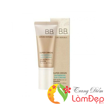 Kem BB Nature Republic Super Origin Collagen Waterproof BB Cream SPF46 PA