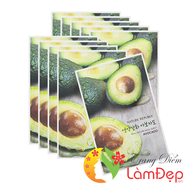 Combo 5 Mặt Nạ Bơ Nature Republic Real Nature Avocado Mask Sheet