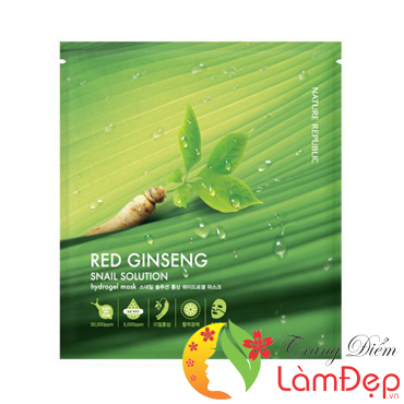 Mặt Nạ Nature Republic Dạng Gel Red Ginseng Snail Solution Hydrogel Mask