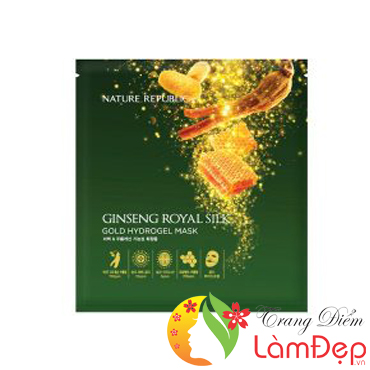 Mặt Nạ Nature Republic Ginseng Royal Silk Gold Hydrogel Mask