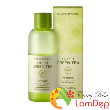 Nước Hoa Hồng Nature Republic Fresh Green Tea 70 Toner
