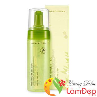 Sữa Rửa Mặt Trà Xanh Nature Republic Fresh Green Tea Bubble Deep Cleanser