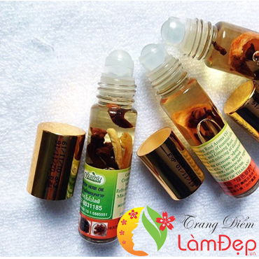 Dầu lăn Thái Lan Green Herb oil Thailand 8ml (2018 model)
