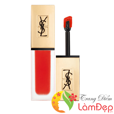 Son YSL 13 Kem Lì Tatouage Couture True Orange